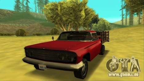 Voodoo El Camino v2 (Truck) für GTA San Andreas linke Ansicht