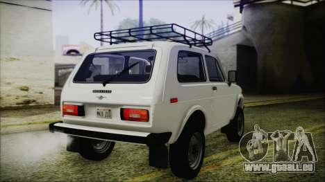 VAZ 2121 Niva 1600 de FIV APT pour GTA San Andreas sur la vue arrière gauche