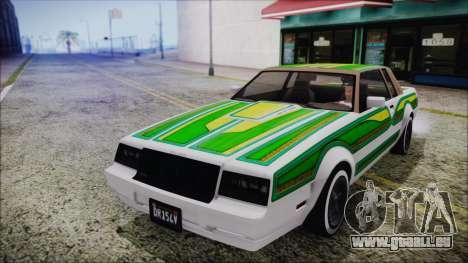 GTA 5 Willard Faction Custom für GTA San Andreas Innenansicht