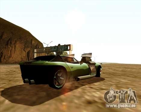 Banshee Twin Mill III Hot Wheels pour GTA San Andreas sur la vue arrière gauche