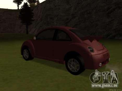 VW New Beetle 2004 Tunable für GTA San Andreas zurück linke Ansicht
