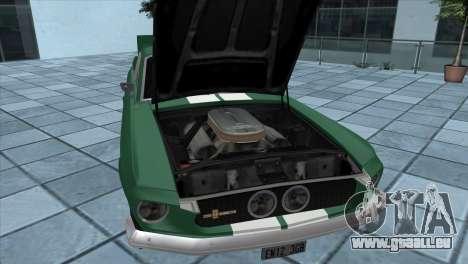 Ford Mustang Shelby GT500 1967 pour GTA San Andreas sur la vue arrière gauche