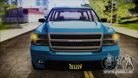GTA 5 Declasse Granger FIB SUV IVF pour GTA San Andreas vue de droite