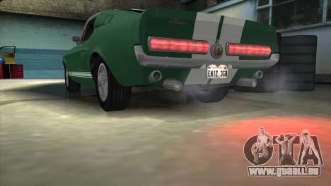 Ford Mustang Shelby GT500 1967 pour GTA San Andreas salon