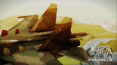SU-27 Flanker A Philippine Air Force pour GTA San Andreas sur la vue arrière gauche