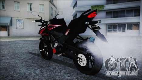 Honda CB150R Black pour GTA San Andreas laissé vue