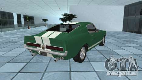Ford Mustang Shelby GT500 1967 für GTA San Andreas linke Ansicht