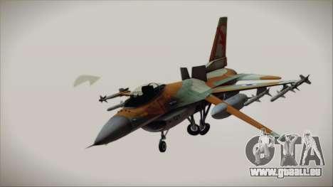 F-16C Block 25 Israeli Air Force pour GTA San Andreas