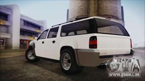 GTA 5 Declasse Granger Civilian IVF pour GTA San Andreas sur la vue arrière gauche