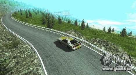 Stelvio Pass Drift Track pour GTA San Andreas deuxième écran