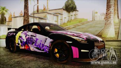 Nissan GT-R Nismo 2015 Itasha Paintjobs für GTA San Andreas rechten Ansicht
