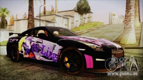 Nissan GT-R Nismo 2015 Itasha Paintjobs pour GTA San Andreas vue de droite
