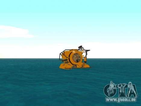 Submersible de GTA V pour GTA San Andreas sur la vue arrière gauche