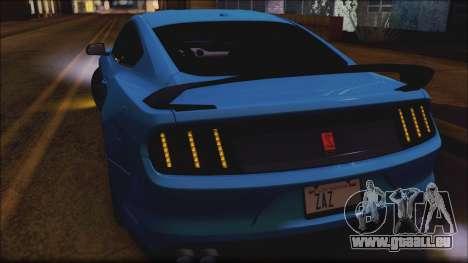 Ford Mustang Shelby GT350R 2016 No Stripe pour GTA San Andreas vue de dessus