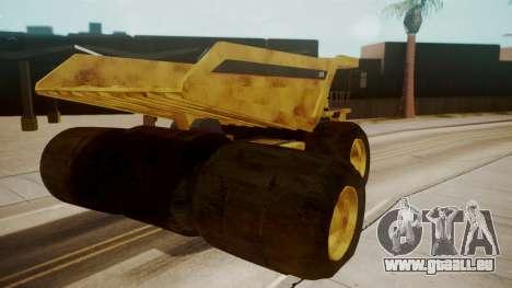 Dump Truck pour GTA San Andreas sur la vue arrière gauche