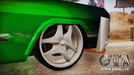 Savanna Ganstar Lowrider pour GTA San Andreas sur la vue arrière gauche