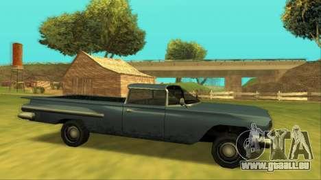 Voodoo El Camino v1 für GTA San Andreas linke Ansicht