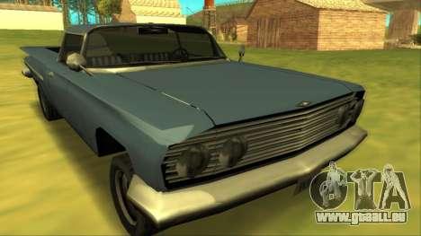 Voodoo El Camino v1 für GTA San Andreas Rückansicht