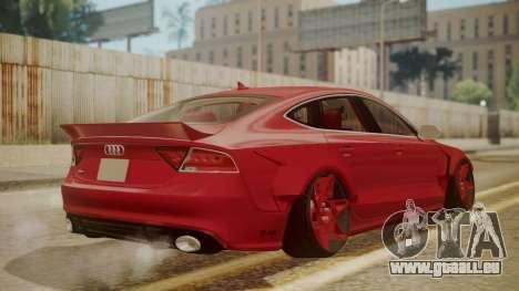 Audi RS7 X-UK L3D pour GTA San Andreas laissé vue