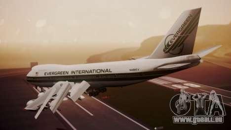 Boeing 747-200 Evergreen International Airlines für GTA San Andreas linke Ansicht