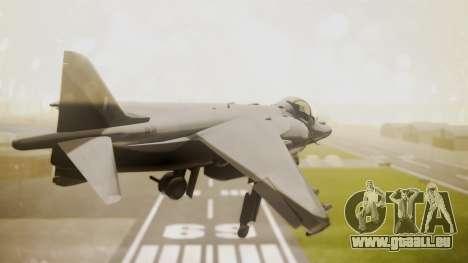 AV-8B Harrier Hellenic Air Force HAF pour GTA San Andreas laissé vue
