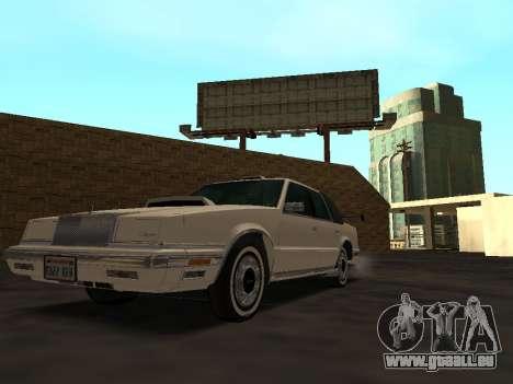 Chrysler New Yorker 1988 pour GTA San Andreas vue de dessous