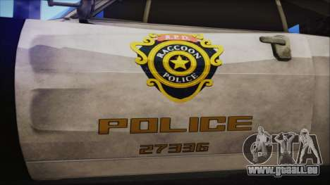 Police Car R.P.D. from RE 3 Nemesis pour GTA San Andreas vue de droite