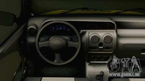 Dacia Solenza Taxi pour GTA San Andreas vue intérieure