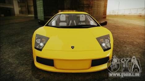 Lamborghini Murcielago 2005 Yuno Gasai IVF für GTA San Andreas obere Ansicht