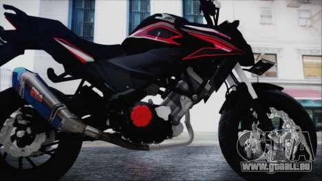 Honda CB150R Black pour GTA San Andreas vue arrière
