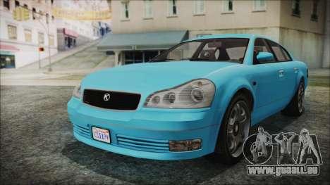 GTA 5 Karin Intruder für GTA San Andreas zurück linke Ansicht