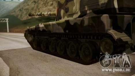 Norinco PLZ-45 155mm pour GTA San Andreas sur la vue arrière gauche