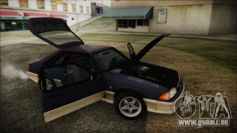 Ford Mustang Hatchback 1991 v1.2 pour GTA San Andreas vue de droite