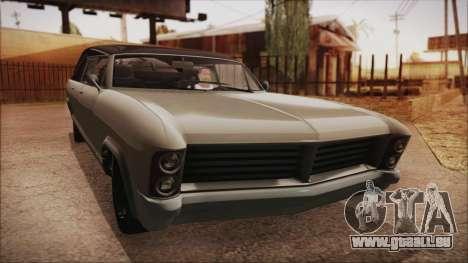 GTA 5 Albany Lurcher Bobble Version IVF pour GTA San Andreas sur la vue arrière gauche