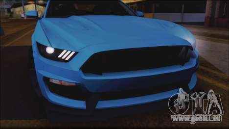 Ford Mustang Shelby GT350R 2016 No Stripe pour GTA San Andreas vue intérieure