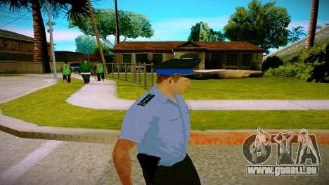 L'employé du Ministère de la Justice v2 pour GTA San Andreas troisième écran