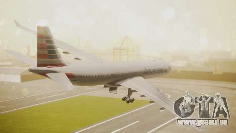 Airbus A330-300 American Airlines für GTA San Andreas linke Ansicht