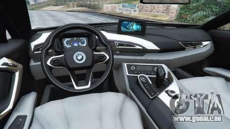 GTA 5 BMW i8 2015 arrière droit vue de côté