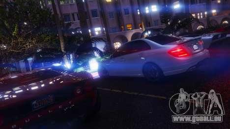 GTA 5 Mercedes-Benz C63 AMG v1 volant
