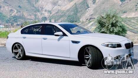 GTA 5 BMW M5 F10 2012 vue latérale gauche