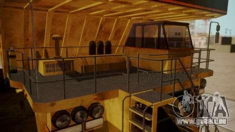 Dump Truck für GTA San Andreas rechten Ansicht