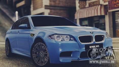 BMW M5 F10 Stock Single für GTA San Andreas linke Ansicht