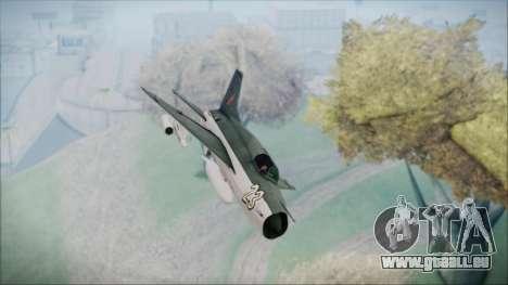 MIG-21MF URSS pour GTA San Andreas vue de droite