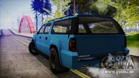 GTA 5 Declasse Granger FIB SUV IVF pour GTA San Andreas laissé vue