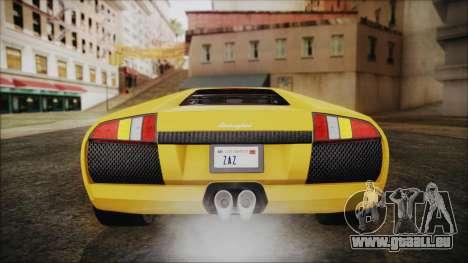 Lamborghini Murcielago 2005 Yuno Gasai IVF für GTA San Andreas Unteransicht