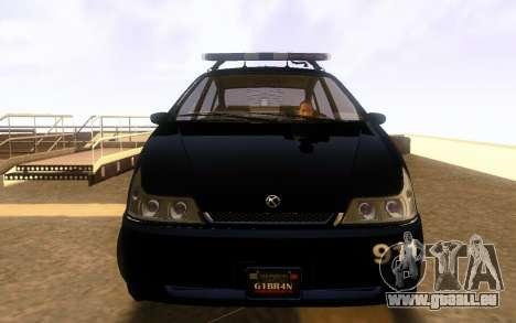 Karin Dilettante Police Car pour GTA San Andreas laissé vue