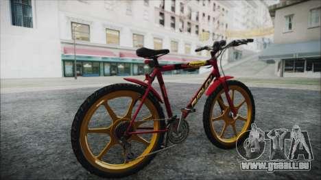 Mtbike HD pour GTA San Andreas sur la vue arrière gauche