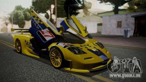 McLaren F1 GTR 1998 Parabolica für GTA San Andreas Rückansicht