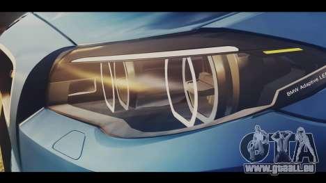BMW M5 F10 Stock Single für GTA San Andreas Rückansicht
