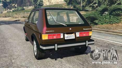 GTA 5 Volkswagen Rabbit 1986 v2.0 hinten links Seitenansicht